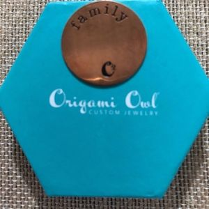 Origami Owl Large Family Plate